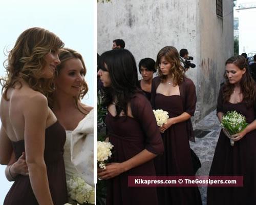 lucy Jessica e Justin al matrimonio di Beverley Mitchell