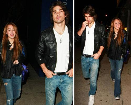 justinmiley Miley Cyrus a cena con Justin