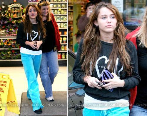 mileygiro Miley Cyrus al supermercato