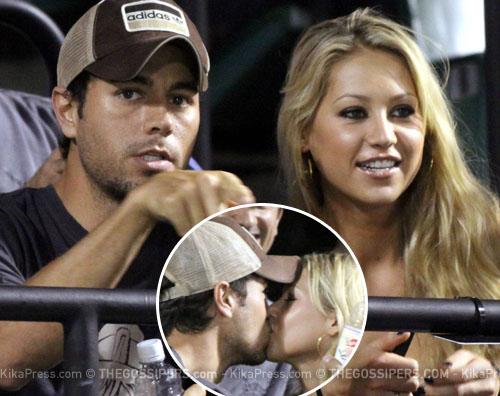 enrique kournikova Enrique e Anna al WTA di Miami
