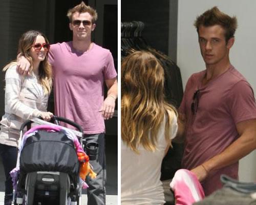 shopping cam Cam Gigandet fa shopping con la famiglia