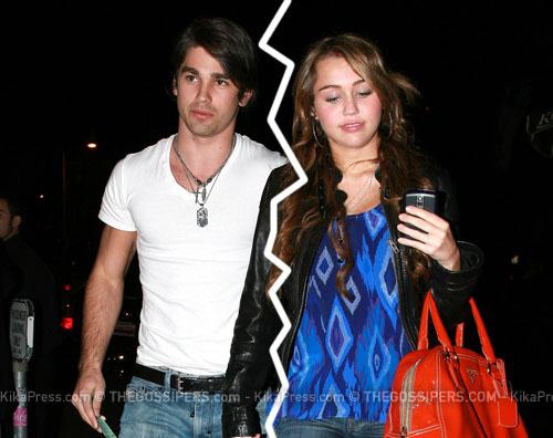 lasciati E finita tra Miley Cyrus e Justin Gaston