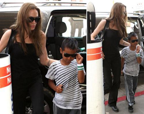 angelina Angelina a Los Angeles con Maddox