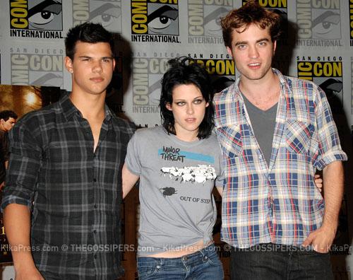 cominc con twilight Taylor, Kristen e Robert al Comic Con
