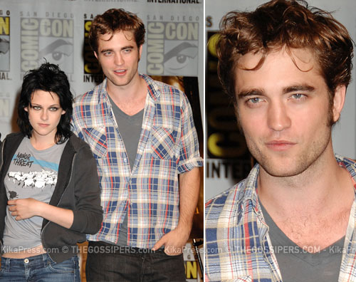pattinson Taylor, Kristen e Robert al Comic Con
