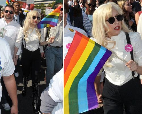 gaga marcia Lady GaGa marcia a favore dei gay