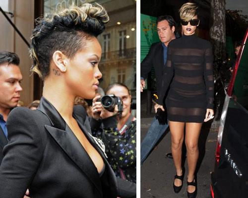 riri fuori Il crestino di Rihanna atterra a Parigi