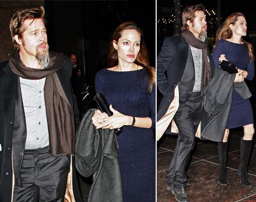 angibradnt Angelina e Brad cenano a New York