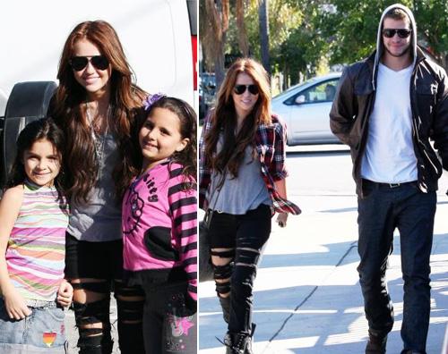 hannah fans Pomeriggio a Santa Monica per Miley Cyrus
