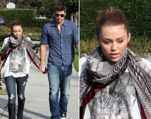 miley liam Miley a passeggio con il fidanzato
