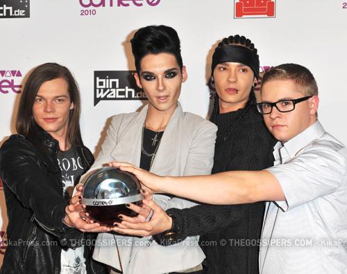 tokio hotel comet I Tokio Hotel trionfano ai Comet Awards