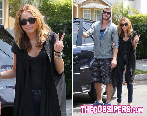 miley liam yeah Miley Cyrus sempre con il suo Liam