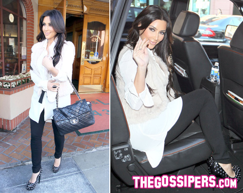 kardashian medico Kim Kardashian elegante anche dal medico