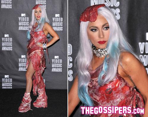 ladygaga carne Niente puzza dal vestito di carne di Lady GaGa