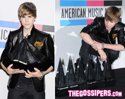 bieber amas2010 Justin Bieber fa il pieno di premi agli AMAs 2010