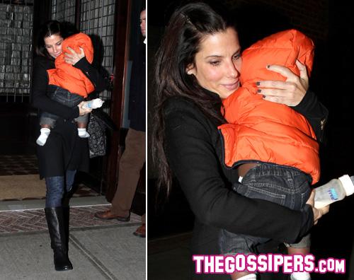 bullock bimbo Sandra Bullock a New York con Louis