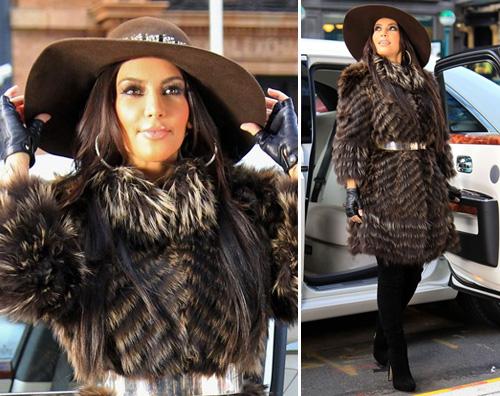 kardashian pelliccia ny Kim Kardashian impellicciata a New York