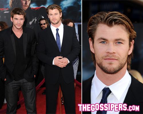 liam chris thor Chris Hemsworth alla prima di Thor