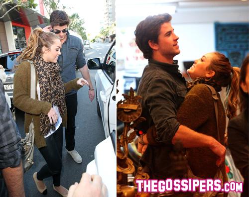 miley liam sydney Miley Cyrus: è ancora amore con Liam Hemsworth