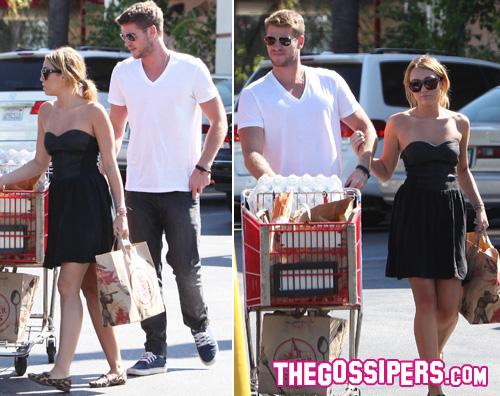 miley liam2 Miley e Liam insieme al supermercato