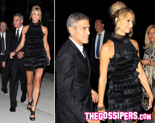 toronto stacy george George Clooney a Toronto con Stacy Keibler
