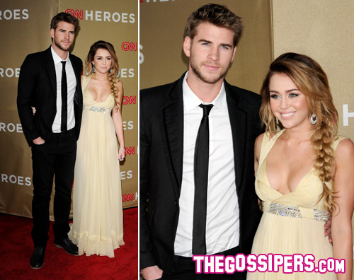 cnn miley liam Miley Cyrus sul red carpet della serata CNN Heroes
