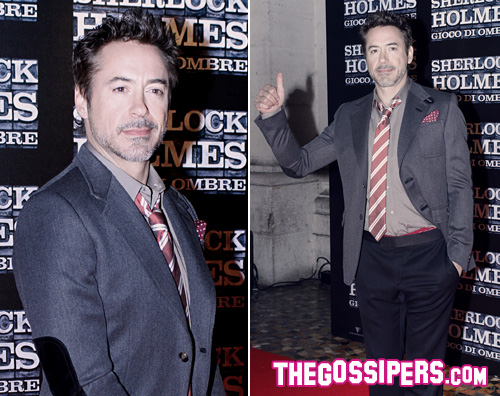robert sherlock Robert Downey Jr. porta Sherlock Holmes in Italia