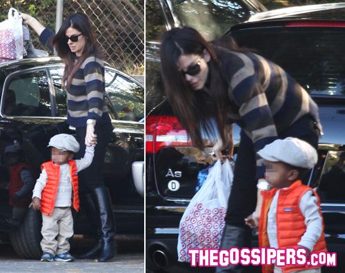 sandra louis Sandra Bullock accompagna il piccolo Louis allasilo