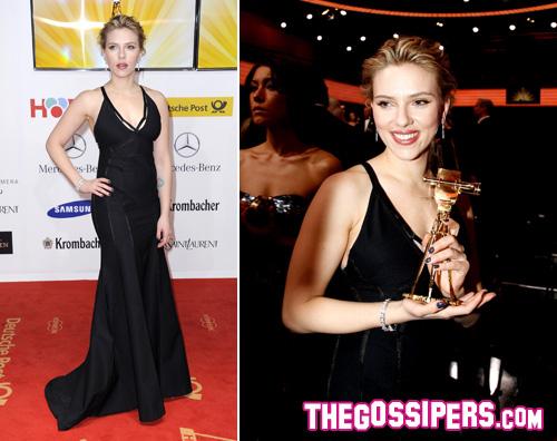 scarlett Scarlett Johansson trionfa ai Golden Camera Awards