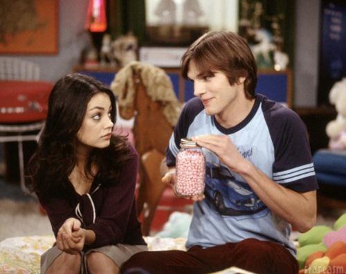 70sshow Ashton Kutcher allo scoperto con Mila Kunis