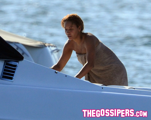mel b senza trucco Mel B senza trucco sullo yacht
