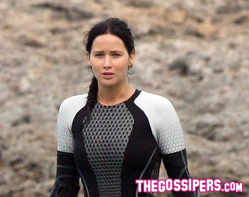 jennifer set Jennifer Lawrence al lavoro per Catching Fire