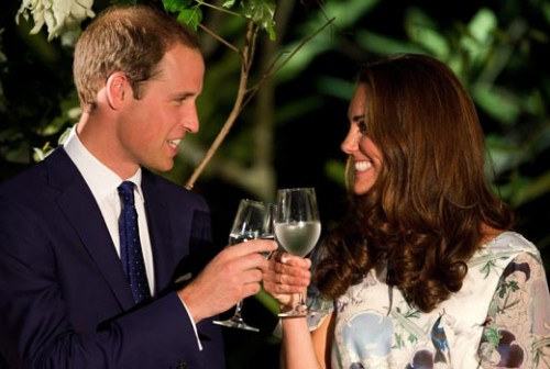 prince william kate middleton toast water pregnant 500x336 Kate Middleton in attesa del primo figlio!