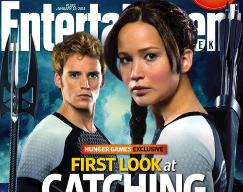 ew catching Le prime immagini di Catching Fire, il sequel di Hunger Games