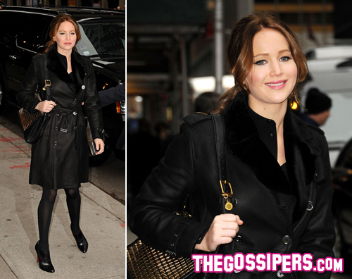 jennifer lawrence Jennifer Lawrence cavalca londa da Letterman