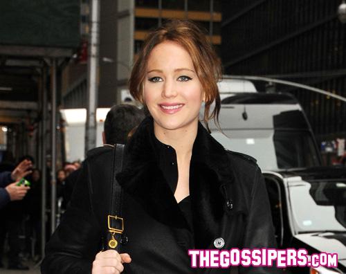 jennifer2 Jennifer Lawrence cavalca londa da Letterman