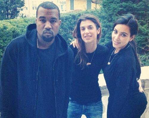 kim eli Kim Kardashian senza trucco con la Canalis