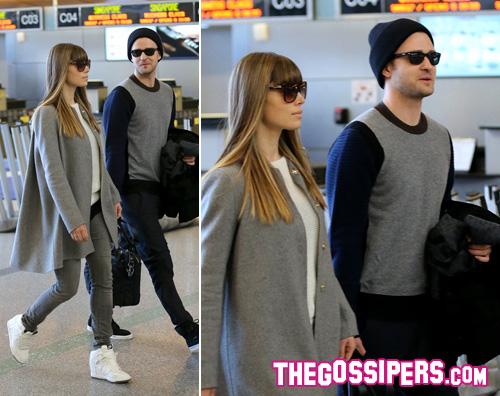 bielj Jessica e Justin insieme in aeroporto