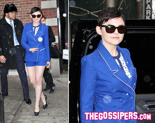 goodwin neve Ginnifer Goodwin sfida il freddo di New York