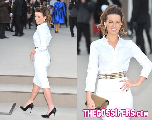 kate beckinsale Anche Kate Beckinsale a Londra per la moda