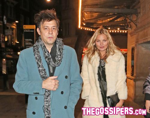 katemosss Kate Moss a teatro con il marito