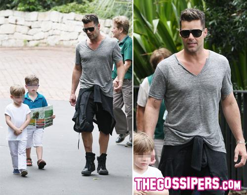 ricky2 Ricky Martin porta i figli allo zoo