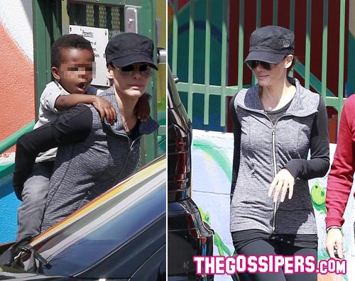 sandra Sandra Bullock allasilo con Louis
