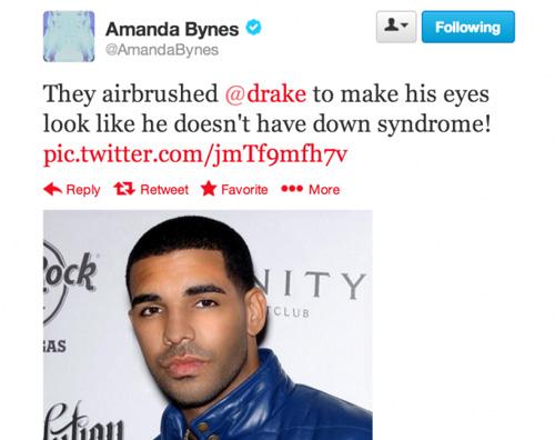 amanda Amanda Bynes continua ad insultare Drake