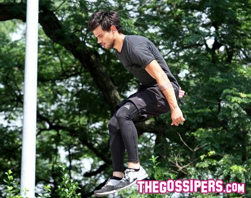 lautner Taylor Lautner è atletico per Tracers