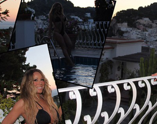 mariah2 Mariah Carey sfoggia un monokini a Capri
