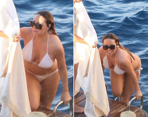 mariah3 Mariah Carey sfoggia un monokini a Capri