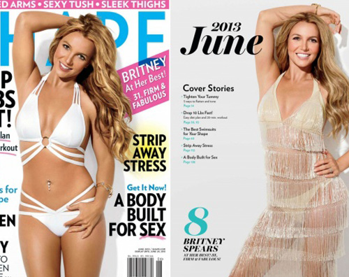 shape1 Britney Spears è atletica per Shape magazine