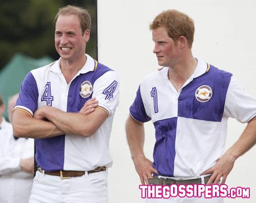 william harry Il principe William si distrae giocando a polo