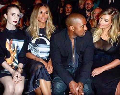 sfilata Kim e Kanye alla Fashion Week di Parigi